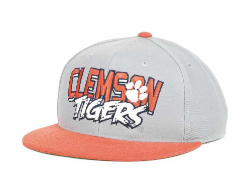 Clemson Tigers Top of the World NCAA Quake Snapback Cap Hats