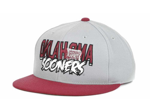 Oklahoma Sooners Top of the World NCAA Quake Snapback Cap Hats