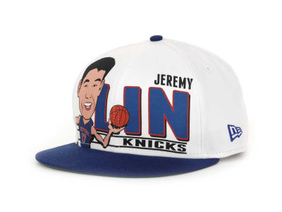 New York Knicks jeremy lin NBA Player Caricature 9FIFTY Snapback Hats