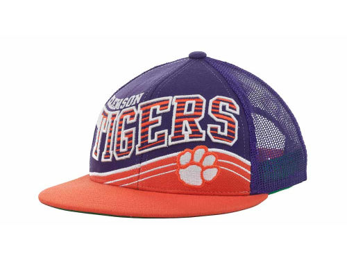 Clemson Tigers Top of the World NCAA Electric Slide Mesh Back Snapback Cap Hats