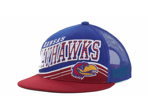 Kansas Jayhawks Top of the World NCAA Electric Slide Mesh Back Snapback Cap Hats