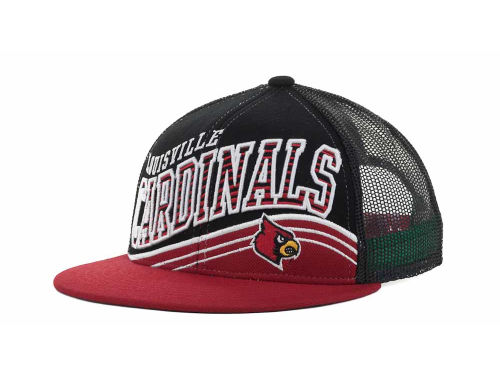 Louisville Cardinals Top of the World NCAA Electric Slide Mesh Back Snapback Cap Hats