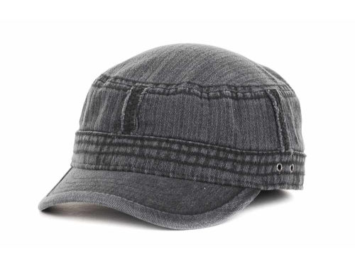 LIDS Private Label PL Washed Denim Military w/ Patched Seams Hats