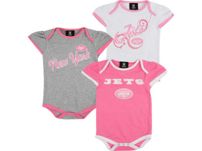 Outerstuff NFL Newborn 3pc Foldover Neck Creeper Set