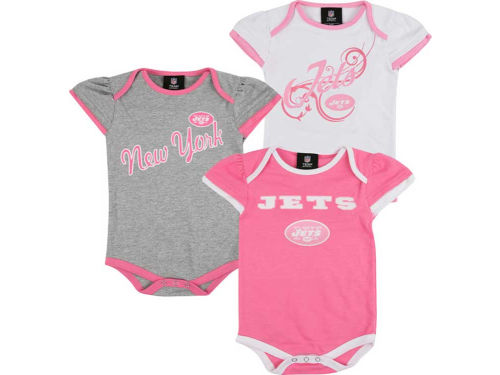 New York Jets Outerstuff NFL Newborn 3pc Foldover Neck Creeper Set