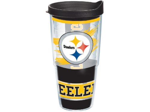 Pittsburgh Steelers Tervis Tumbler NFL 24oz Wrap with Lid