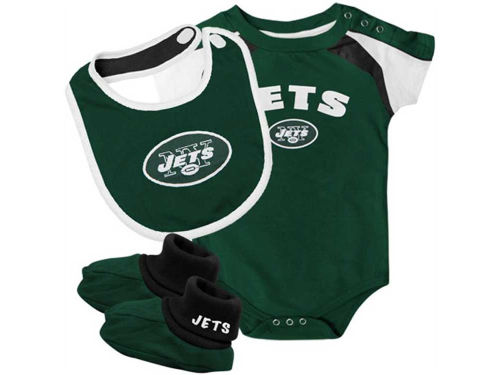 New York Jets Outerstuff NFL Infant Creeper Bib & Bootie Set