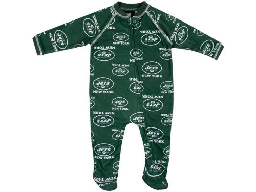 New York Jets Outerstuff NFL Infant Full Zip Raglan Coverall