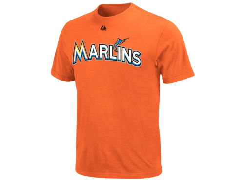 Miami Marlins Majestic MLB Official Wordmark T-Shirt