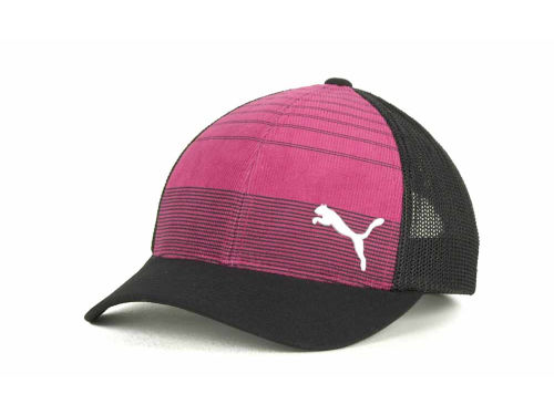 Puma Mesh Stripped Trucker Hats