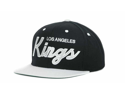 Los Angeles Kings Mitchell And Ness 2T Script Snapback Cap Hats