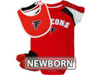 Atlanta Falcons Outerstuff NFL Newborn Creeper, Bib, Bootie Set Infant Apparel