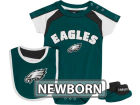 Philadelphia Eagles Outerstuff NFL Newborn Creeper, Bib, Bootie Set Infant Apparel