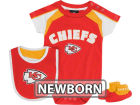 Kansas City Chiefs Outerstuff NFL Newborn Creeper, Bib, Bootie Set Infant Apparel
