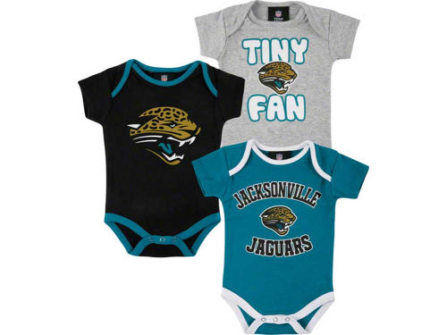Jacksonville Jaguars Outerstuff NFL Newborn 3pc Foldover Neck Creeper Set