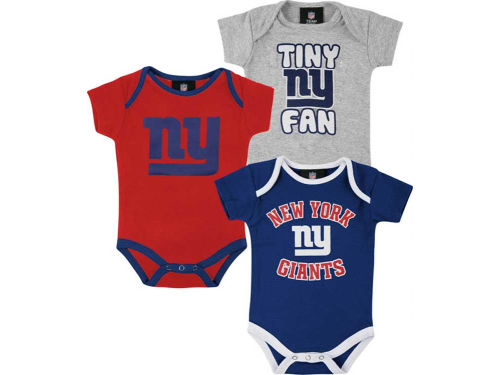 New York Giants Outerstuff NFL Newborn 3pc Foldover Neck Creeper Set