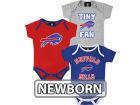 Buffalo Bills Outerstuff NFL Newborn 3pc Foldover Neck Creeper Set Infant Apparel