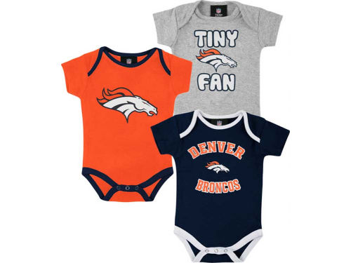 Denver Broncos Outerstuff NFL Newborn 3pc Foldover Neck Creeper Set