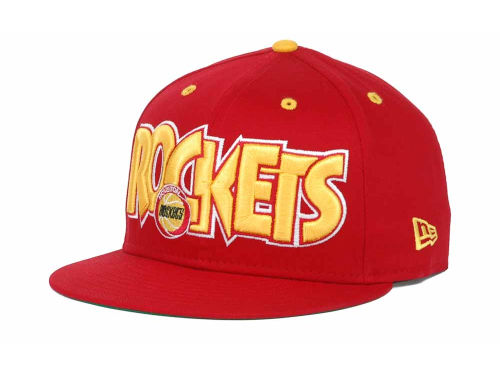Houston Rockets New Era NBA Hardwood Classics Big Man 9FIFTY Snapback Hats