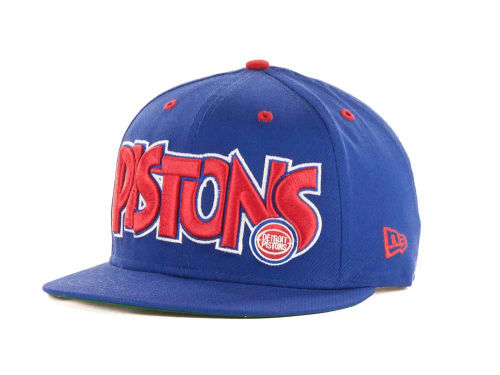 Detroit Pistons New Era NBA Hardwood Classics Big Man 9FIFTY Snapback Hats