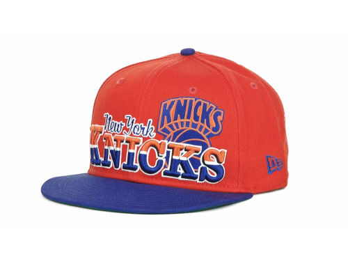 New York Knicks New Era NBA Hardwood Classics Splitier 9FIFTY Snapback Hats