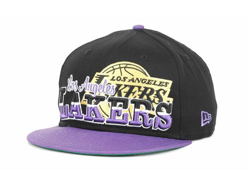 Los Angeles Lakers New Era NBA Hardwood Classics Splitier 9FIFTY Snapback Hats