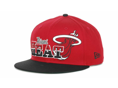 Miami Heat New Era NBA Hardwood Classics Splitier 9FIFTY Snapback Hats