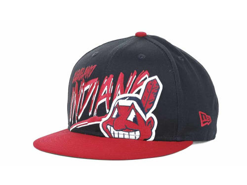 Cleveland Indians New Era MLB Scribbs 9FIFTY Snapback Hats