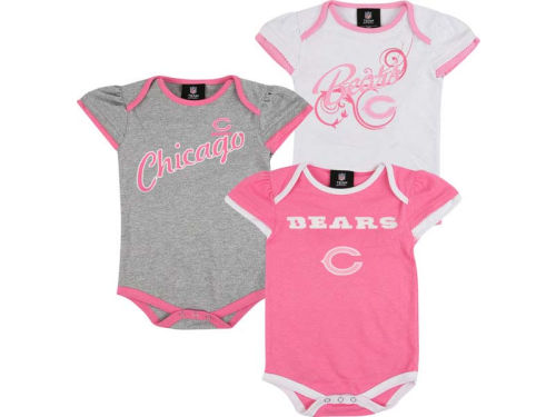 Chicago Bears Outerstuff NFL Newborn 3pc Foldover Neck Creeper Set