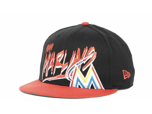 Miami Marlins New Era MLB Scribbs 9FIFTY Snapback Hats