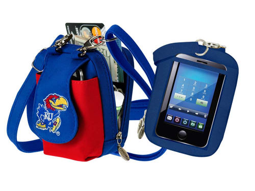 Kansas Jayhawks Purse Plus With Touch Screen