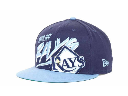 Tampa Bay Rays New Era MLB Scribbs 9FIFTY Snapback Hats