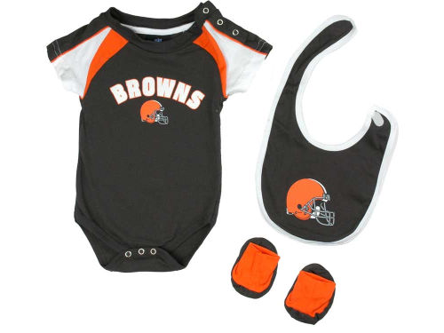 Cleveland Browns Outerstuff NFL Infant Creeper Bib & Bootie Set