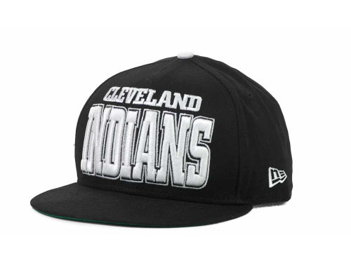 Cleveland Indians New Era MLB Solid 9FIFTY Snapback Hats