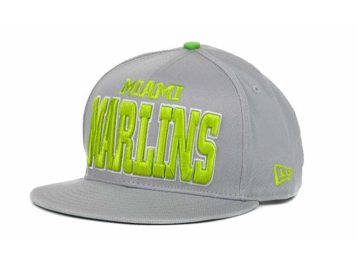 Miami Marlins New Era MLB Solid 9FIFTY Snapback Hats