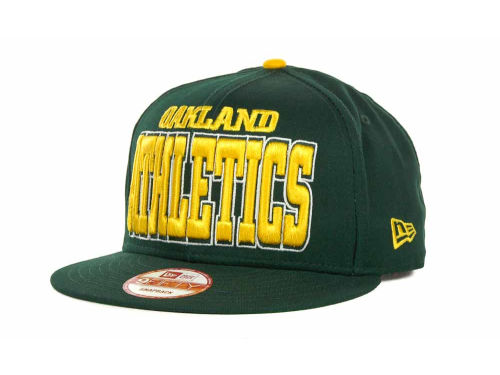 Oakland Athletics New Era MLB Solid 9FIFTY Snapback Hats