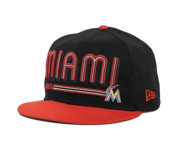 Miami Marlins MLB Showtime 9FIFTY Snapback Hats