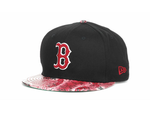 Boston Red Sox New Era MLB Snake Thru 9FIFTY Strapback Hats
