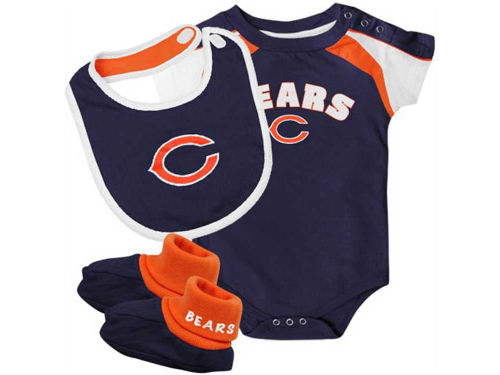 Chicago Bears Outerstuff NFL Infant Creeper Bib & Bootie Set