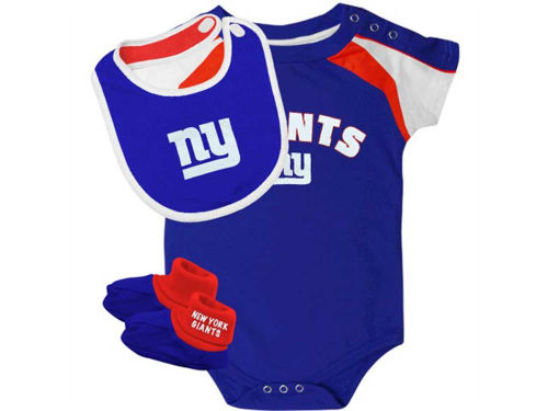 New York Giants Outerstuff NFL Infant Creeper Bib & Bootie Set
