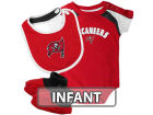 Tampa Bay Buccaneers Outerstuff NFL Infant Creeper Bib & Bootie Set Infant Apparel