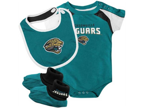 Jacksonville Jaguars Outerstuff NFL Infant Creeper Bib & Bootie Set