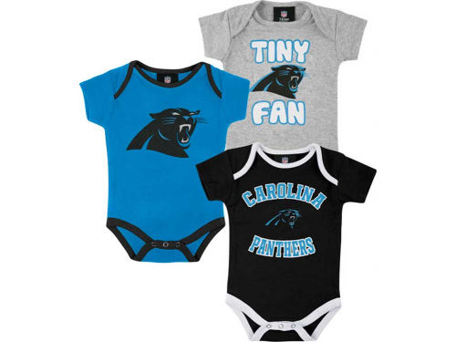 Carolina Panthers Outerstuff NFL Infant 3pc Foldover Neck Creeper Set
