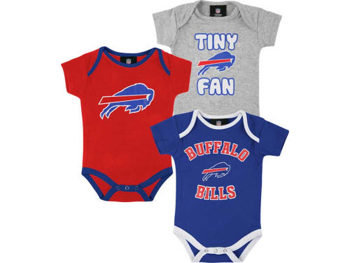 Buffalo Bills Outerstuff NFL Infant 3pc Foldover Neck Creeper Set
