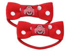 Ohio State Buckeyes Bow Pigtail Holders Apparel & Accessories