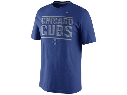 Chicago Cubs Nike MLB SSNL Reflective Blended T-Shirt