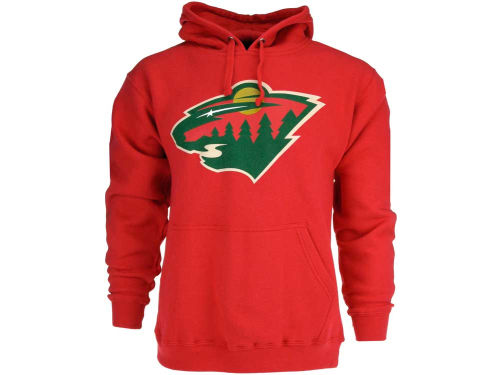 Minnesota Wild Old Time Hockey NHL Big Logo Hoody
