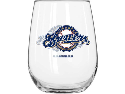 Milwaukee Brewers Boelter Brands Curved Beverage Glass