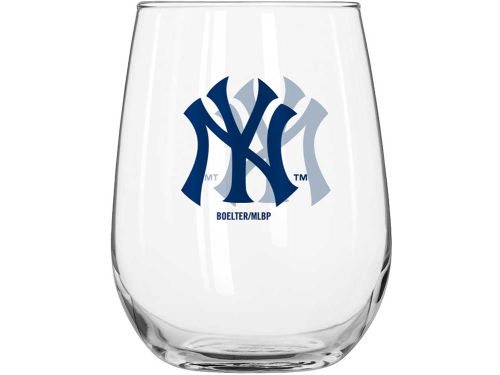 New York Yankees Boelter Brands Curved Beverage Glass