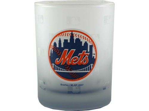 New York Mets Boelter Brands Satin Etch Rocks Glass
